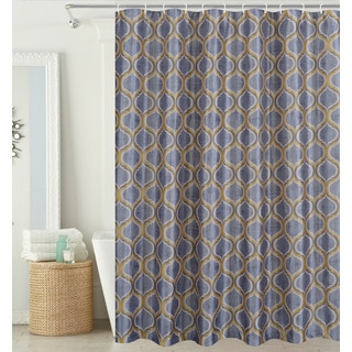 Hamilton Park Scrolls Shower Curtain (hooks included)