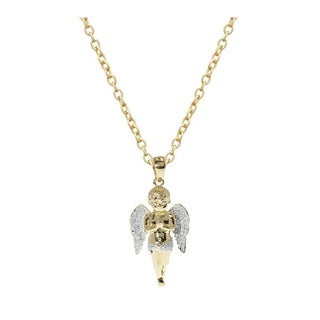 14k Yellow Gold Angel Necklace