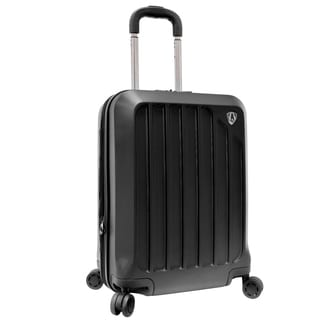 Traveler's Choice Glacier Black 21-inch Hardside Expandable Carry-On Spinner Upright Suitcase