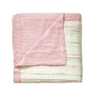 aden + anais Tranquility Bead and Solid Rose Dream Blanket