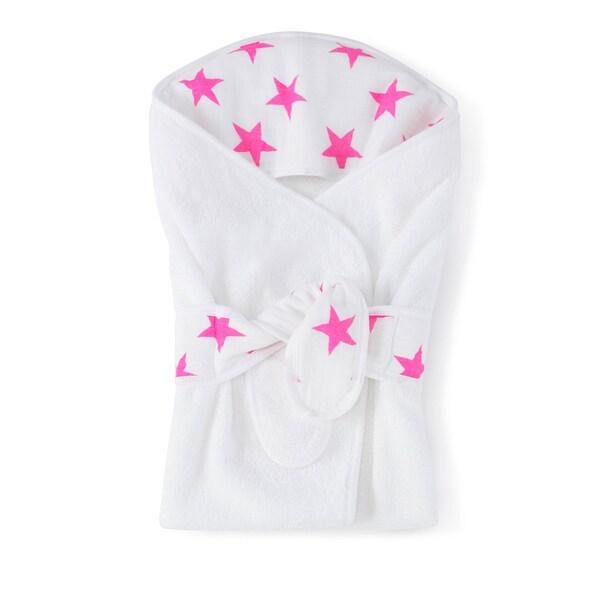 aden + anais Fluro Pink Baby Bath Wrap
