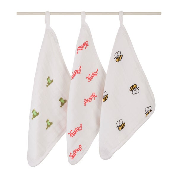 aden + anais Mod About Baby Washcloth Set (Pack of 3)