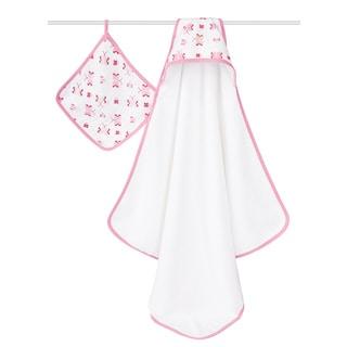 aden + anais Princess Posie Hooded Towel/ Washcloth Set