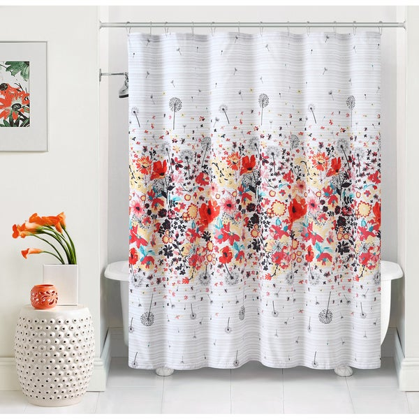 VCNY Magnolia Vibrant Floral Shower Curtain Overstock