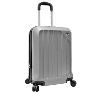 Traveler's Choice Glacier Silver 21-inch Harside Expandable Carry On Spinner Upright Suitcase