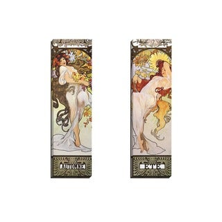 Portfolio Canvas Decor Alphonse Mucha 'Automne' Framed Canvas Wall Art (Set of 2)