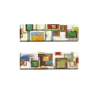 Portfolio Canvas Decor Sandy Doonan 'Cubist Sequence I' Framed Canvas Wall Art (Set of 2)