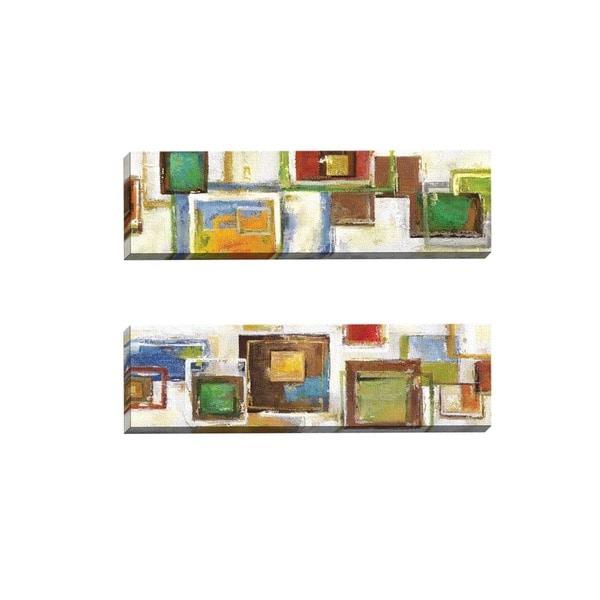 Sandy Doonan 'Cubist Sequence I' Framed Canvas Wall Art (Set of 2)