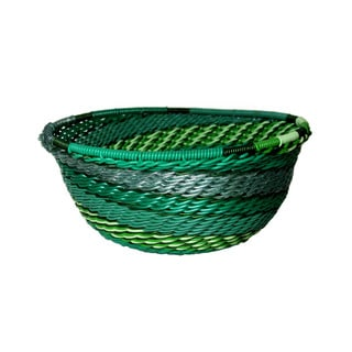 Handcrafted Recycled Telephone Wire Emerald Bowl (South Africa)