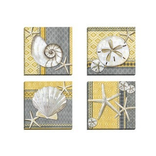 Portfolio Canvas Decor Paul Brent 'Santa Cruz Shells I' Framed Canvas Wall Art (Set of 4)