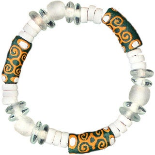 Global Mamas Adinkra Strength Bracelet in Green (Ghana)
