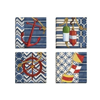 Portfolio Canvas Decor Paul Brent 'Anchors Away I' Framed Canvas Wall Art (Set of 4)