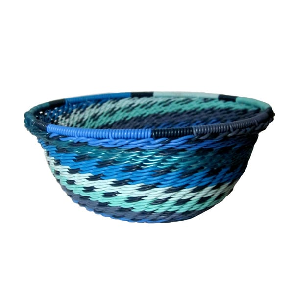 Handcrafted Recycled Telephone Wire Oceanic Bowl (South Africa)