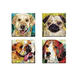 Portfolio Canvas Decor Sandy Doonan 'Art Dog Beagle' Framed Canvas Wall Art (Set of 4)