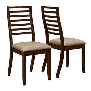 Kriens Transitional Cappuccino Ladder Back Dining Chairs (Set of 2)