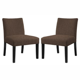 angelo:HOME Bradstreet Parisian Chocolate Brown Chair Set - Set of 2