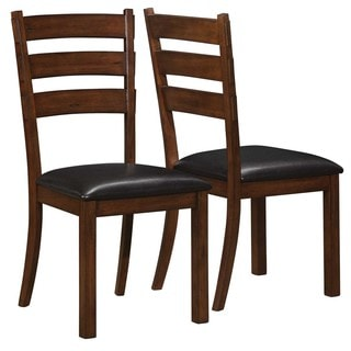 Emerald Vintage Brown Ladder Back Dining Chairs (Set of 2)