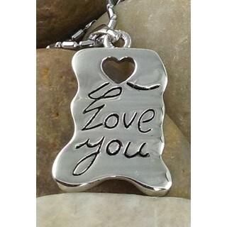 Mama Designs 'Love You' Simple Pendant Inspiring Necklace