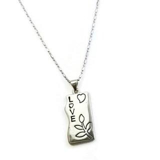 Mama Designs Love Rhodium-plated Inspiring Necklace