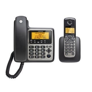 Motorola Digital Cordless/ Corded Home Phone with Answering Machine and One Handset