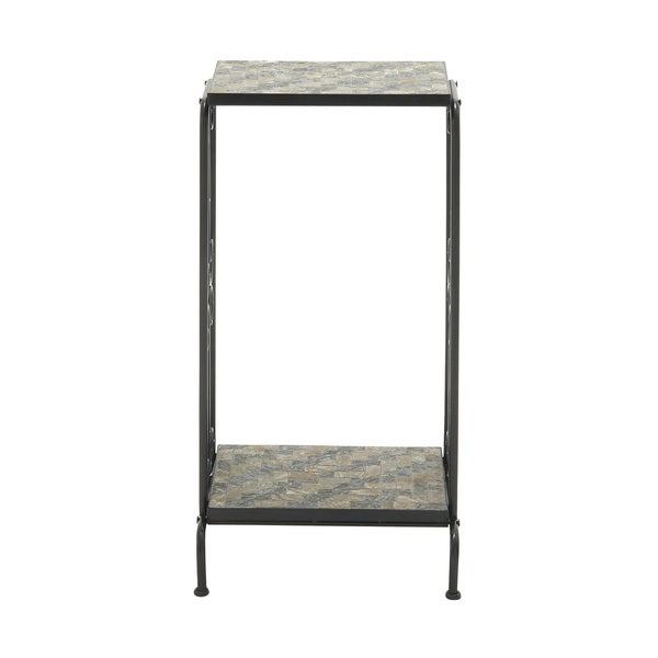 Flabbergasting Metal Stone Plant Stand