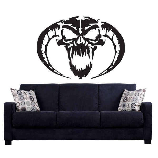 Devil Lucifer Demon Hell Horns Vinyl Sticker Wall Art