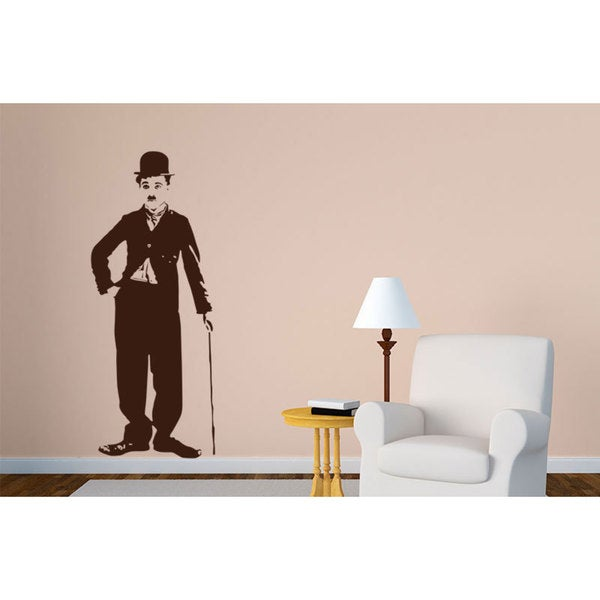 Charlie Chaplin Vinyl Sticker Wall Art