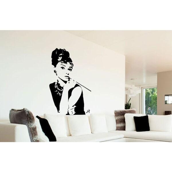 Audrey Hepburn Vinyl Sticker Wall Art