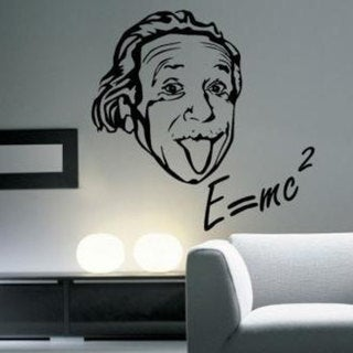 Albert Einstein E=mc Vinyl Sticker Wall Art