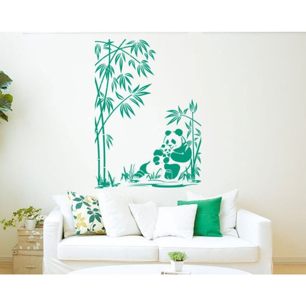 Panda Bamboo Vinyl Sticker Wall Art