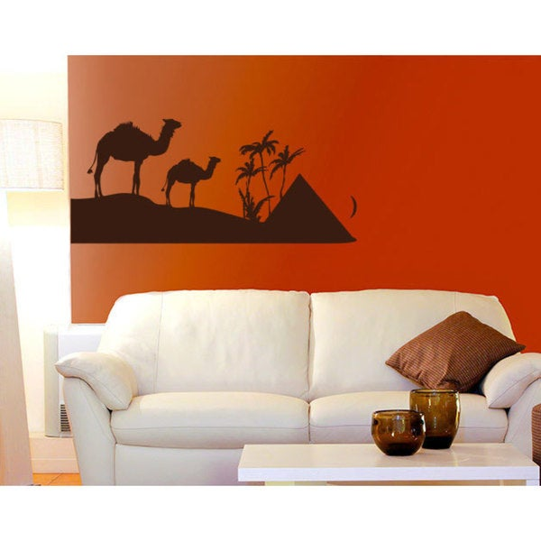 Egypt Pyramids Camel Vinyl Sticker Wall Art