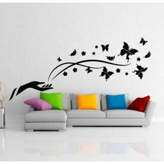 Butterflies Inspirational Vinyl Sticker Wall Art Overstock Shopping