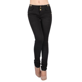Sexy Couture Women's S44-PS Mid Rise Skinny Jeans