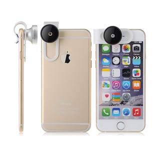 3-in-1 Clip-on 180-degree Supreme Fisheye II/ 0.65x Wide Angle II/ Macro Camera Lens Photo Kit Smartphones