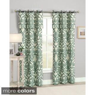 Pennington Round Grommet Jacqurd Curtain Panel