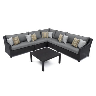 RST Brands Deco 6-piece Corner Sectional Set with Charcoal Grey Cushions