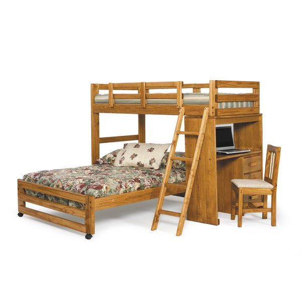 Woodcrest Heartland Collection Twinfull Loft Bunk Bed