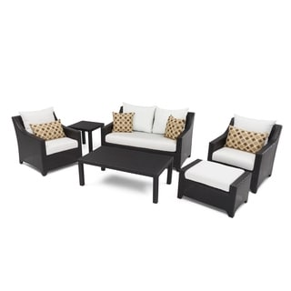 RST Brands Deco 6-piece Love and Club Deep Seating Set with Moroccan Cream Cushions