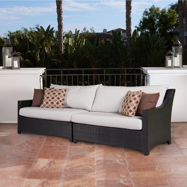 RST Brands Deco 2-piece Sofa with Moroccan Cream Cushions