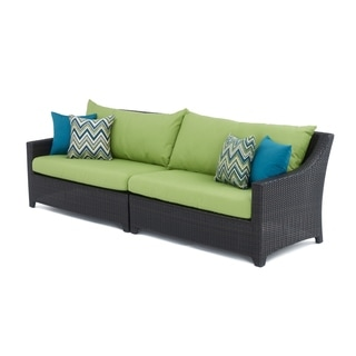 RST Brands Deco 2-piece Sofa with Gingko Green Cushions
