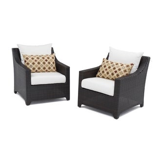 RST Brands Deco Set of 2 Club Chairs with Moroccan Cream Cushions