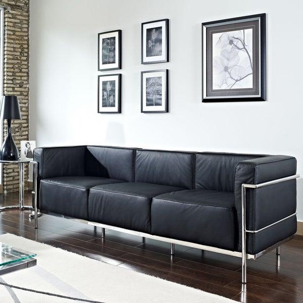 Charles Stainless Steel Tubular Grande Sofa