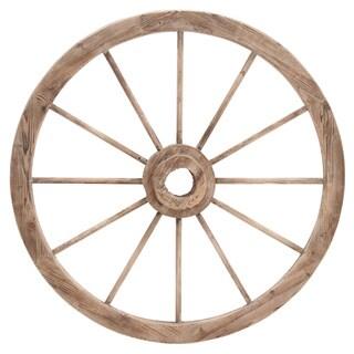 Decorative Antique Red 42 Inch Wagon Garden Wheel