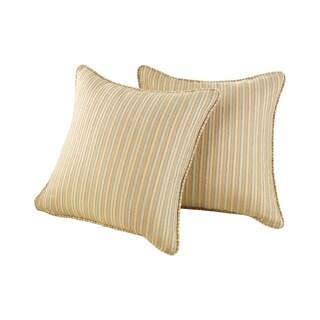 Sure Fit Chenille Stripe 18 x 18-inch Decorative Pillow Shell