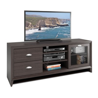 "CorLiving TEK-575-B Kansas TV Bench in Modern Wenge Finish for 60"" TV"