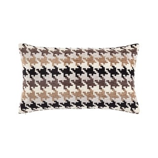Sure Fit Houndstooth Chenille 12 x 22-inch Decorative Pillow Shell