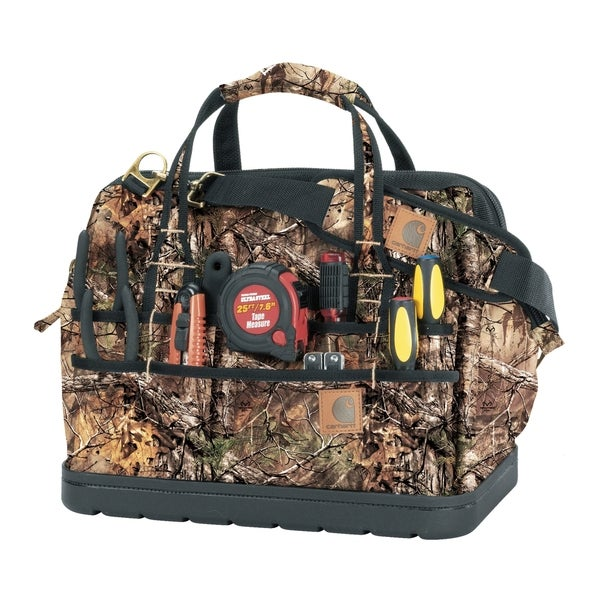 "Carhartt Real Tree Xtra Legacy 16"" Tool Bag with Molded Base"