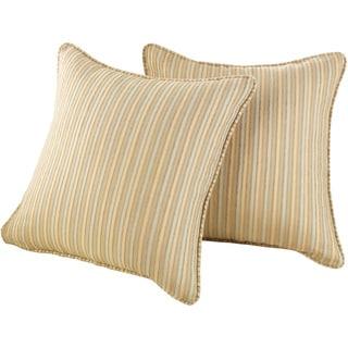Sure Fit Chenille Stripe 18 x 18-inch Decorative Pillow