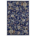 Blue Wool Traditions Paradise (5'x8') Rug