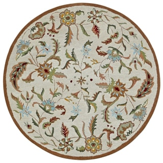 Brown Wool Traditions Paradise (8'x8') Round Rug